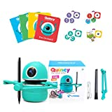 Intelligent Automatic Drawing Robot,Artist Painting Robot Suit Include 4 Books 38 Cards and 2 Pens USB Rechargeable Educational Smart Robot Toy (Blue)