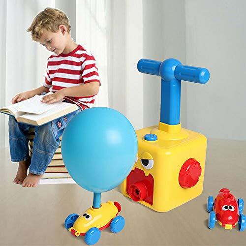 Chuan Coche con Globo de Poder,Coche Inflable de la Bomba del Globo, Juguete del Coche de la Bola con el Globo 6pcs para los niños