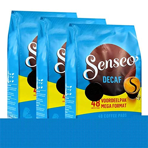 Senseo D?caf? / Decaffeinated, New Design, Pack of 3, 3 x 48 Coffee Pods