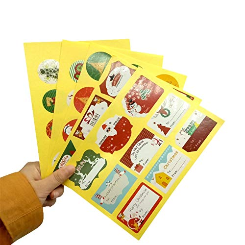 90pcs/pack Round Christmas Creative Sealing Stickers three Selections Cake Packaging Sealing Label Sticker