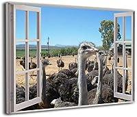 3D 窓 ポルトNoiteポルトガル アートパネル アート ポスター アートフレーム モダン 壁掛けアート アートボード インテリア 絵 絵画 部屋飾り 壁掛け 玄関 木枠セット(40*50cm)