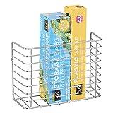 mDesign Cestas para cocina – Almacenamiento en la cocina – Práctica estantería cocina o estantería ducha – en metal cromado