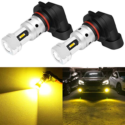 Phinlion 3800 Lumens H10 9145 LED Yellow Fog Light Bulbs Extremely Super Bright...
