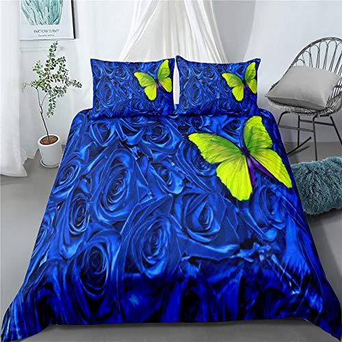 Bedclothes-Blanket Juego de sabanas Cama 150,Rosa 3D-8_180 × 210cm