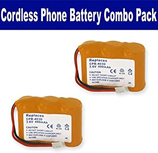 Synergy Digital Cordless Phone Batteries, Works with Vtech ia5878 Cordless Phone, Combo-Pack Includes: 2 x EM-CPB-403D Batteries