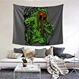 BLACK SP Swamp Man Thing Tapestry Wall Hanging Home Decoration Dormitory Bedding 3D Printed Bed Tapestry Poster Wide Wall Tapestry for Living Room Bedroom Dormitory Home Decor 60×51in