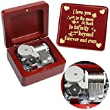 Sinzyo You are My Sunshine Music Box Wine red Wood Gift for...