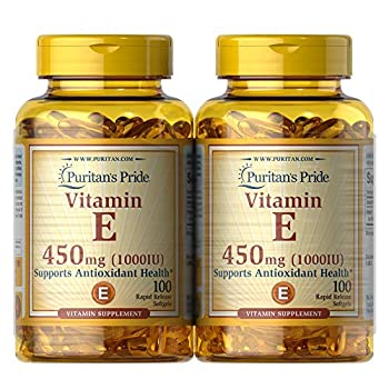 Puritans Pride Vitamin E Supports Immune Function 450 mg,100 count Pack of 2