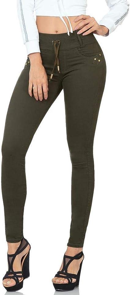 Pantalon Fergino Jeans Mujer Verde Gabardina Stretch 284 Salv Amazon Com Mx Ropa Zapatos Y Accesorios