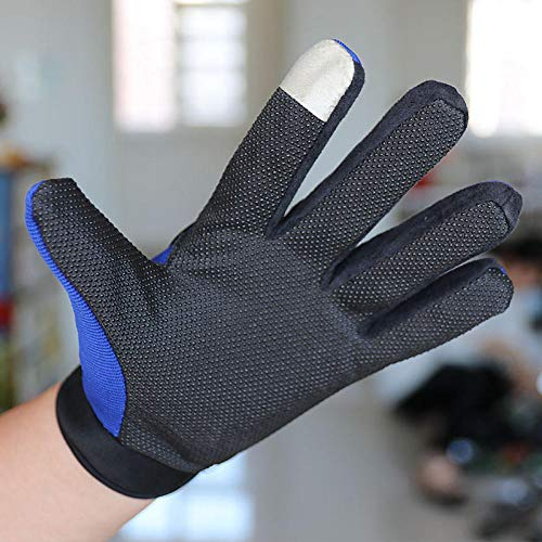 JFHGNJ Langer Finger der Sportmänner im Freien, der Harte Oberteilsonnenschutzhandschuhe reitet Grau_Eine Größe
