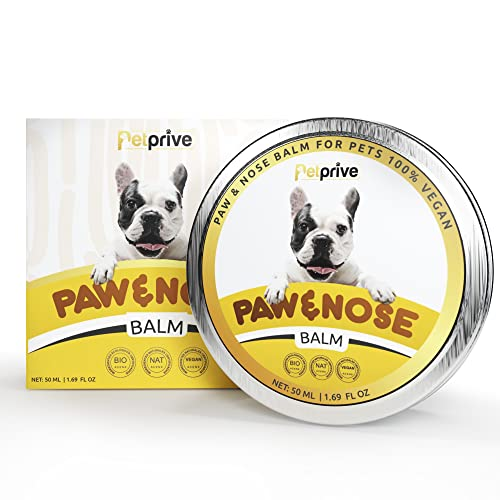 Petprive Crema Almohadillas Perros - Paw Balm Dogs - Protector Patas Perro - Protector Almohadillas Perro - Crema para Almohadillas Perros - Balsamo Almohadillas Perro - Balsamo Nariz Perro - 50 Ml
