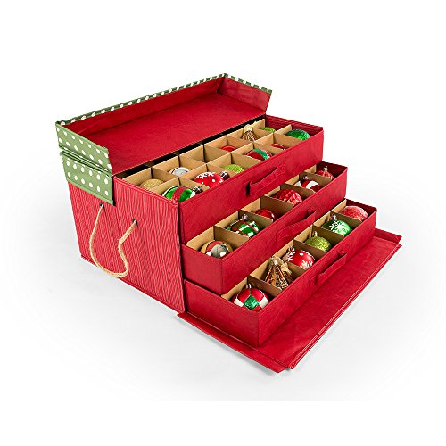Christmas Ornament Storage Container with Dividers
