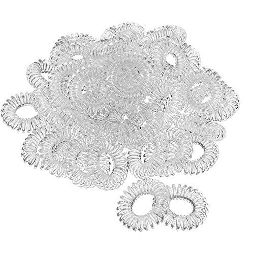 SUI-lim 40 Stück hochwertige Spiral-Haargummis, Elastische-Haargummis, elastisch Haarband für Damen und Mädchen, Spirale Telefonkabel Zopfgummi