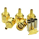 SMAオスコネクタ 圧着タイプ LMR100・RG316・RG174・RG188など対応 ケーブル用 自作 5個入