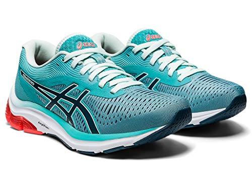 ASICS Women's Gel-Pulse 12 Running Shoes, 7.5M, Techno Cyan/Magnetic Blue