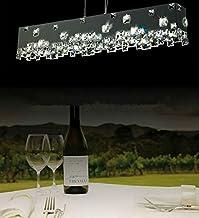 GOWE modern lamp Rectangle LED crystal pendant lamp+ crystal chandelier lighting