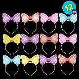 12 LED blinkende Ohren Stirnbänder - Verschiedene Farben - Ideal für Partys, Halloween,...