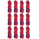 Azarxis Tensores de Tiendas de Campaña + Cuerda Reflectante 6 PCS para Toldo Refugio (Rojo - 12 Pcs)