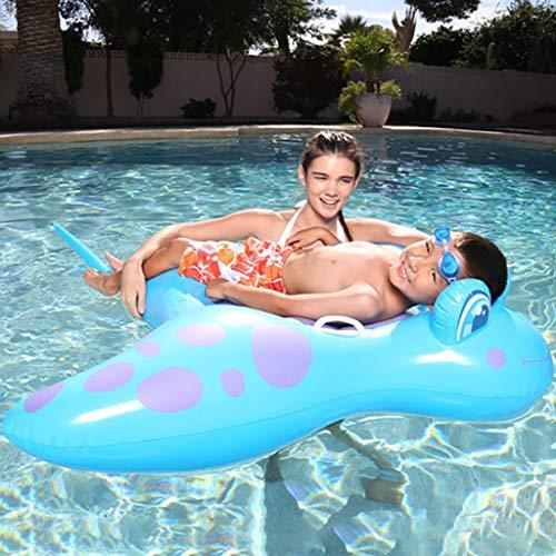 ToDIDAF Schwimmbad schwimmt für Kinder Schwimmbadzubehör Cartoon-Schwimmring Wasser aufblasbares Spielzeug Schwimmendes Bett für die Sommerferien Pool-Party Reise (Schlittschuh) (Blau)