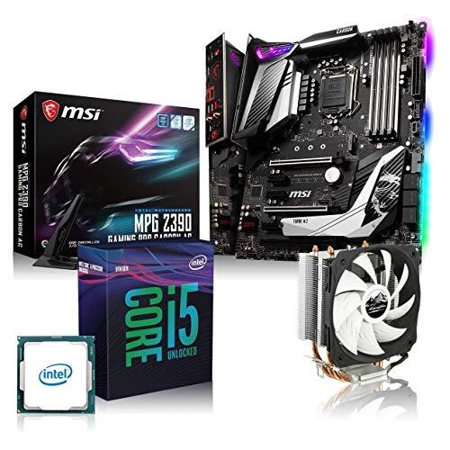 Memory PC Aufrüst-Kit Bundle i5-9600K 6X 3.7 GHz, MSI Z390 Gaming Pro Carbon, 16GB DDR4 RAM, fertig montiert und getestet