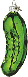 Christmas Holiday Traditional Glass Pickle Ornament - 4