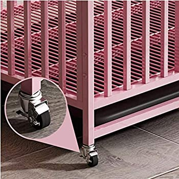 Chenils Cage intérieure Chien métal Pliable Moyen Chien Crate avec Cage for Animaux de Golden Retriever Toilettes Labrador clôture Chien (Color : Black, Size : 78.5 * 57.5 * 77CM)