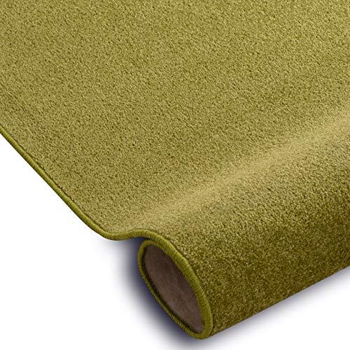 RugsX Einfarbiger Teppich Eton für Zimmer, Wohnzimmer, Schlafzimmer, Teppichboden Auslegware, grün, Verschiedene Größen, 300x500 cm