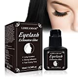 Eyelash Extension Glue,Lash Adhesive Black,Black Lash Glue,Extra Strong Hold and Long Lasting,1-2 Sec Drying Time