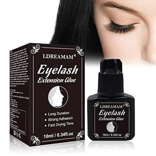 Colla Extension Ciglia,Eyelash Extension Glue,Eyelash Glue,Colla per Ciglia Finte,Asciugatura Rapida per Ciglia Adesivo per L'estensione delle Ciglia Eyelash Extension Glue