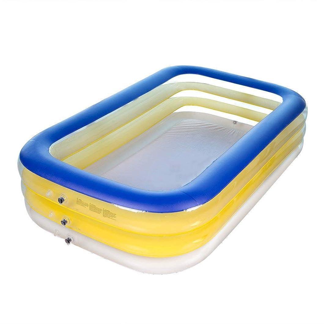みがきます明確にペットインフレータブルスイミングプール、巨大な家族は、年齢のための長方形のプールを泳ぐ