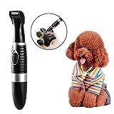 Neckip Cortapelos para perros y gatos, profesional, silencioso, inalámbrico, eléctrico, cortapelos para el pelo, para la cara, los ojos, las orejas, las patas