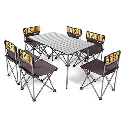 折り畳み テーブル チェア 6脚セット アウトドア キャンプ レジャー 専用キャリーバッグ セットレジャー キャンプ ピクニックテーブル アルミテーブル キャンプ アウトドア 椅子 背もたれ付き ピクニック ベンチセット組立簡単 軽量 持ち運び便利 背もた