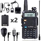 BaoFeng UV-5R Ham Radio BaoFeng Radio with Extra 1800mAh Battery and TIDRADIO 771 Antenna Two Way Radio Includes Full Kit BaoFeng Walkie Talkie