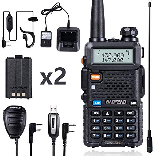 BaoFeng UV-5R Dual Band Two Way Radio (Black). Buy it now for 48.99