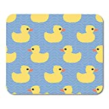 AOHOT Mauspads Pattern Cute Yellow Rubber Duck on Wave Toy Baby Pool Party Little Mouse pad 9.5' x 7.9' for Notebooks,Desktop Computers Accessories Mini Office Supplies Mouse Mats