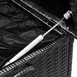 Deuba Auflagenbox | Poly Rattan | Hubautomatik | Innenplane | Wetterfest | Rollbar | Kissenbox Gartentruhe Gartenbox Kissentruhe | Schwarz | 122x56x61cm | - 5