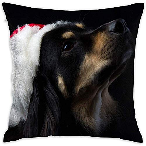fenrris65 Niedlicher Hunde-Kissenbezug, dekorativ, doppelt bedruckt, quadratisch, geeignet für 45,7 x 45,7 cm