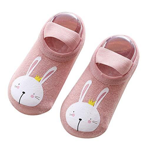 Fenverk 3 Paar Cartoon Neugeborenes Babyschuhe MäDchen Jungen Anti-Slip Socken Slipper Stiefel Neugeborenen 1-3 Jahre Baby Schuhe Socken, Strumpf