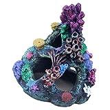 STOBOK Acuario de Resina Acuario Roca de Coral Paisaje Cueva de Montaña Refugio Ornamento para Peces Camarones Betta Juego de Hadas Jardín