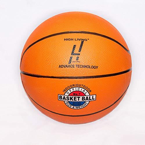 Highliving ® Basketball Größe 7 für Indoor-Outdoor-Training, rutschfeste Oberfläche, umweltfreundliches Gummi