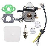 Beehive Filter Carburetor C1U-K54A Air Filter Fuel Spark Plug kit for 2-Cycle Mantis 7222 7222E 7222M 7225...