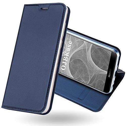 OJBKase Cover Huawei Mate 10 Lite, Flip Caso Custodia in Pelle PU di Alta qualità [Kickstand] Premium Portafoglio con Interno TPU Antiurto e Protettiva Flip Wallet Cover per Huawei Mate 10 Lite (Blu)