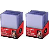 Ultra Pro Clear Regular Toploader 3' x 4' 25-Count per Pack (2-Packs)