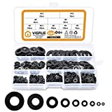 VIGRUE Black Zinc Plated Alloy Steel Flat Washers Set Washers Hardware Assortment 684 Pieces -9 Sizes M2 M2.5 M3 M4 M5 M6 M8 M10 M12