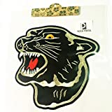 Patch Portal Black Panther 8 Inches Embroidered Sew Iron on Patches Animal Wildlife Trendy Tiger Embroidery Applique for Clothes Shirts Jeans Jackets Backpacks
