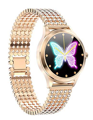 Frauen Smartwatch Diamant Armbanduhr Herzfrequenz Monitor Kalorienzähler Blutdruck Sport Uhr Wasserdicht Fitness Tracker Schlafüberwachung Erinnerungen