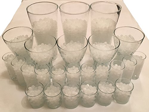 8000 pezzi   20 litri di sfere d acqua in gel cristallo terra cristallo perle decorazione vaso 11 – 15 mm diametro   200 grammi – piante candele fiori dispenser acqua umidificatore cristallo cristallo (bianco)