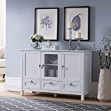 Kings Brand Furniture – Evans Sideboard Buffet Console Table Storage Cabinets, White
