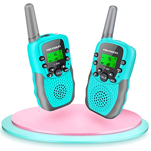 FAYOGOO Walkie Talkies for Kids, Toys for 3-12 Year Old Boys and Girls, 2 Miles Long Range Kids Walkie Talkies, 22 Channels 2 Way Radio Kids Toys, Birthday Xmas Gifts for Children