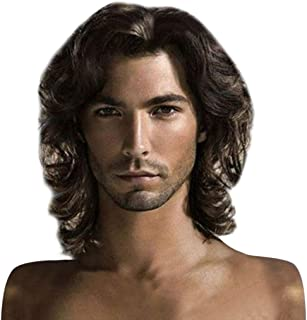 Dumanfs Fashion Cool Wigs Short Natural Hair Chocolate Color Handsome Wig Men'S